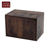 《木森雅居》KIMORI S-Cabinet可堆疊收納櫃(附門)(仿木色款)