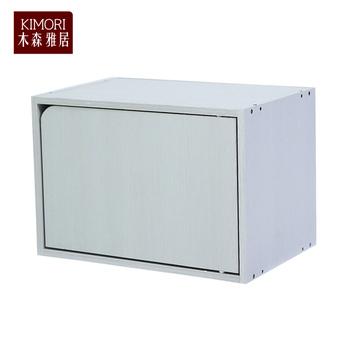 《木森雅居》KIMORI S-Cabinet可堆疊收納櫃(附門)(木紋白款)