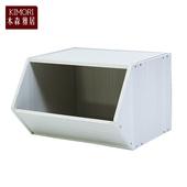 《木森雅居》KIMORI S-Cabinet可堆疊玩具櫃/收納櫃(木紋白款)