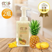 《优淨》Family cleaning 鳳梨酵素洗潔液 500ml/瓶(X2瓶)