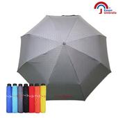 【皮爾卡登】大傘面防風反光晴雨折傘(灰色)
