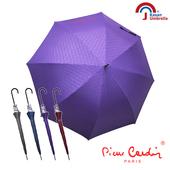 【皮爾卡登】玻纖銀膠自動傘(深紫)