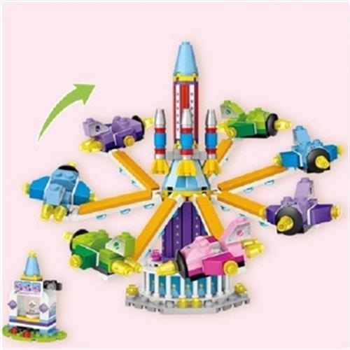 積木-遊樂園系列(一躍天際太空船)