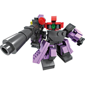 創意變型機器人7x9cm(紫)
