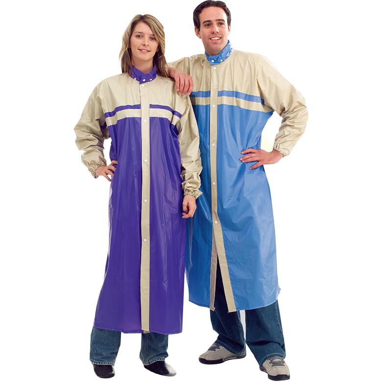 《皮爾卡登》雨蝶塑膠全開式雨衣-顏色隨機(XL)