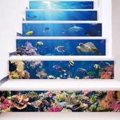 海底世界3D樓梯貼-18x100cm