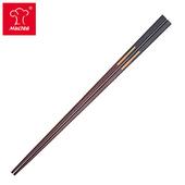《摩堤MULTEE》34cm雙色檀木料理筷(黑紫)