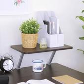 《頂堅》寬48公分(Z型)桌上型置物架/螢幕架(二色可選)(深胡桃木色)