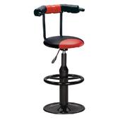《IN 生活》菲力特吧台椅(紅黑)(紅黑)