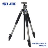 《日本 SLIK》Sprint Pro III BH GM 附 SBH-100DQ 球型雲台 鐵灰