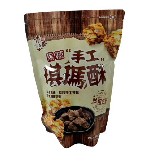 《台東青澤》琪瑪酥黑糖+蔥蒜口味(200g±10%/包)