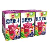 《義美》寶吉蔬果汁 葡萄莓果(250ml*6罐/組)