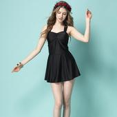 《SAIN SOU》泡湯SPA連身裙泳裝附泳帽A98905(M)