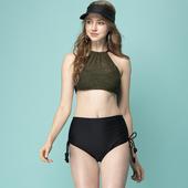 《SAIN SOU》泡湯SPA兩截式泳裝附泳帽A92910(F)