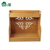 《佶之屋》5mmPVC木塑二層廚房落地收納/置物架(淺木紋)
