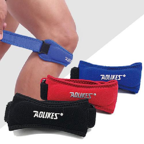 《AOLIKES》加壓減震護膝帶2入/組(黑)