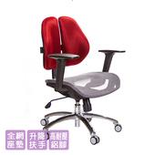 《GXG》GXG 短背網座 雙背椅 (升降扶手)  TW-2801 LU2(請備註顏色)