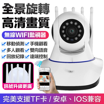 《Uta》5天線無線網路旋轉監視器HDR5(公司貨)(白色)