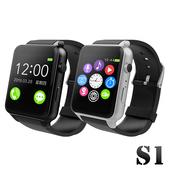 《SmartWatch》可照相金屬質感智能心率手錶(IPS貼合屏技術)(銀色)