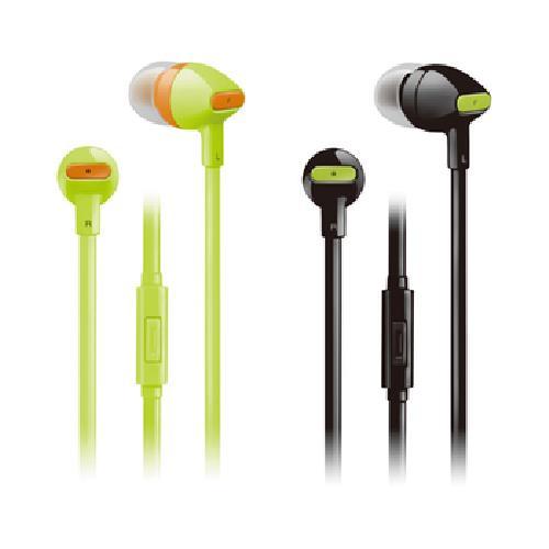 《THOMSON》繽紛色彩耳機 TM-TAEL02M(黑/螢光綠 顏色隨機出貨)