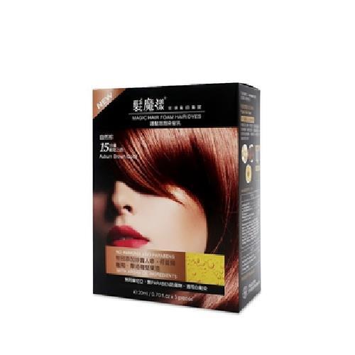 《髮魔漾》護髮泡泡染髮乳 20mlX3包/盒(棕)