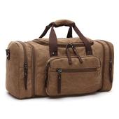 加寬大容量帆布旅行袋咖啡-53X25X30cm $850