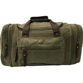 加寬大容量帆布旅行袋軍綠