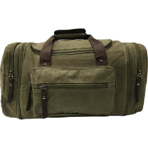 加寬大容量帆布旅行袋(軍綠-53X25X30cm)