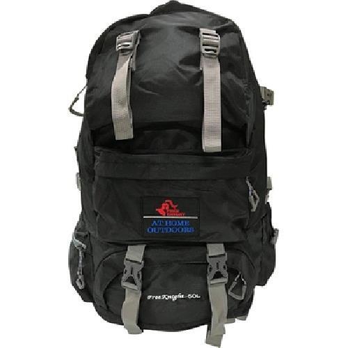 防潑水戶外雙肩背包50L(黑-53X32X22cm)