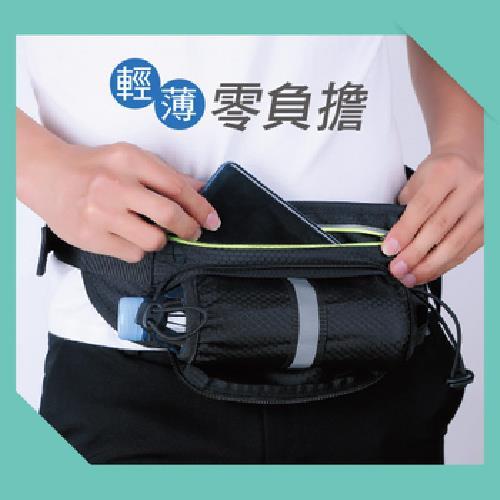 防潑水多功能運動腰包 顏色隨機(35X11.8cm)