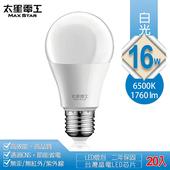 16W超節能LED燈泡20入