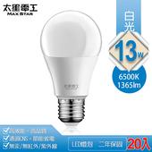 《太星電工》13W超節能LED燈泡20入(白光)
