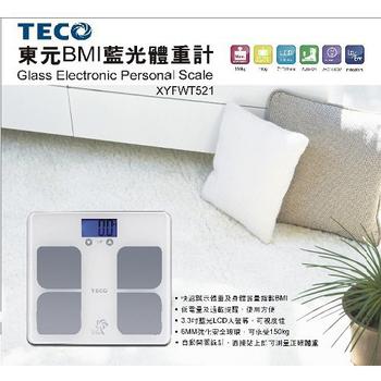 TECO東元 XYFWT521 BMI藍光體重計(6mm)
