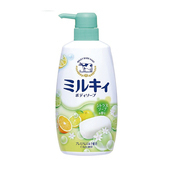 牛乳石鹼牛乳精華沐浴乳柚子香(550ml/瓶)