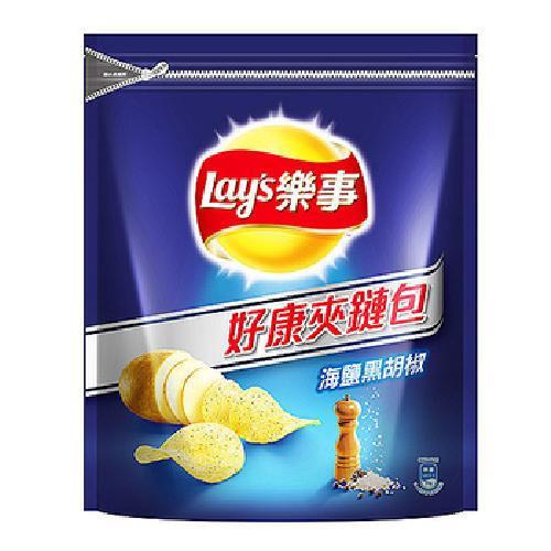 《樂事》洋芋片-275g/包(海鹽黑胡椒)