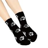 《台灣製》女緹花短襪(花色隨機出貨)(HS-B001)