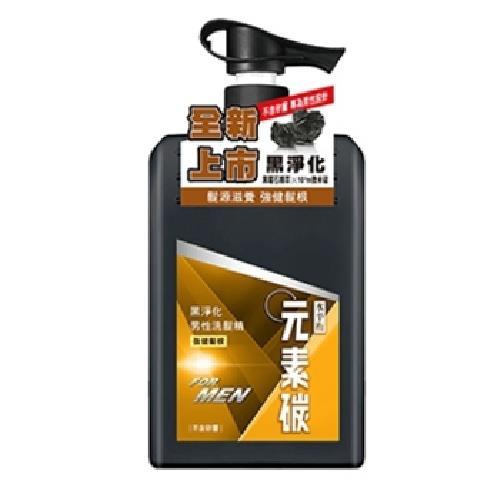 《水平衡》元素碳黑淨化男性洗髮精強健髮根(650g/瓶)