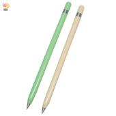 《月陽》月陽免換筆心不需墨水的不鏽鋼永續筆超值2入(P882)(粉藍色)