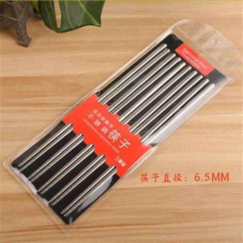 304不鏽鋼筷五入組(23X0.7cm)