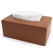 《Novella Amante》皮質紙巾盒(杏褐色)