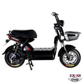 (客約)EK-S8 野馬48V鉛酸高亮大燈防盜鎖避震電動車(電動自行車)