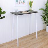 《頂堅》寬80x深40x高99/公分-小型吧台桌/高腳桌/餐桌/洽談桌(二色可選)(深胡桃木色)