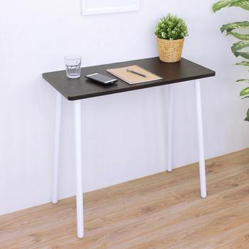 《頂堅》寬80x深40x高76/公分-小型書桌/餐桌/電腦桌/洽談桌/工作桌(二色可選)(深胡桃木色)