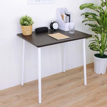 《頂堅》寬80x深60x高76/公分-中型書桌/餐桌/電腦桌/洽談桌/工作桌(二色可選)(深胡桃木色)