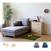 《YKSHOUSE》村上貴妃坐躺椅-獨立筒版(兩色.左右型可選)(灰色-左型)