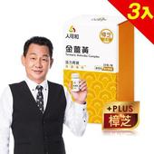 《人可和》SNQ國家認證金薑黃-樟芝添加(30粒x3瓶,共90粒)