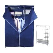 六格多功能大衣櫥架組(贈防塵套-顏色隨機)(120x45x180cm/I-L-WA207)