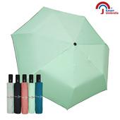 【皮爾卡登】三折自開收黑膠雨傘(淺綠)