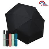 【皮爾卡登】三折自開收黑膠雨傘(暗黑)