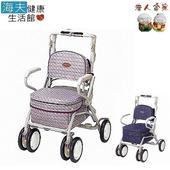 《老人當家 海夫》MAKITECH 銀髮族散步購物車 Carry Peer 花紋紫